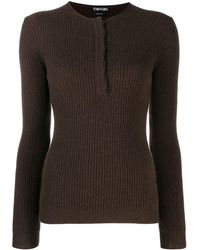 Tom Ford Ribbed Cashmere Sweater - Brown