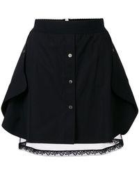 Alexander Wang - Layered Button Skirt - Lyst