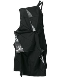 Issey Miyake Deconstructed One-shoulder Top - Black