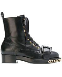 N°21 レザー ブーツ - ブラック