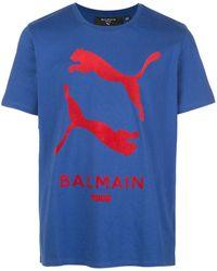 PUMA X Balmain T-Shirt - Blau