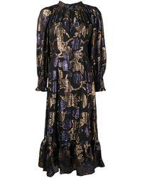 Sea フローラル ドレス - ブラック