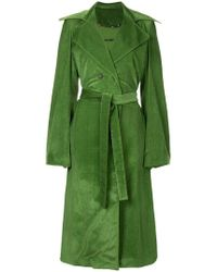 Rosie Assoulin Belted Trench Coat - Green