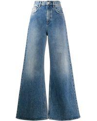 The Attico Jeans svasati a vita alta - Blu
