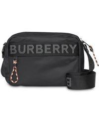 Burberry Logo Detail Crossbody Bag - Black