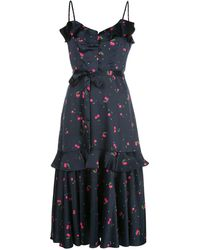 MILLY プリント ドレス - ブルー