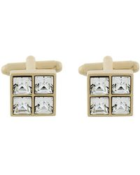 DSquared² - Square Crystal-embellished Cufflinks - Lyst