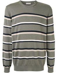 Gieves & Hawkes Horizontal Stripes Jumper - Green