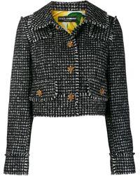 Dolce & Gabbana Жакет Spencer В Ломаную Клетку - Черный
