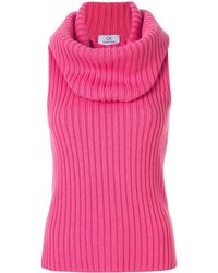 Calvin Klein チャンキー リブ トップ - ピンク