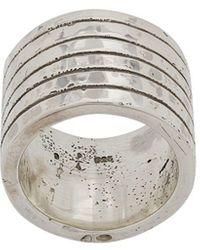 Parts Of 4 Plane Ring - Metallic