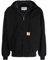 Carhartt WIP Zip Front Hoodie - Black