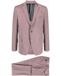 Low Brand Schmaler Anzug - Pink