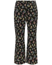 Erdem - Valary Floral-jacquard Cropped Trousers - Lyst