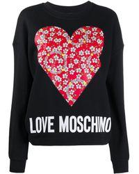 Love Moschino - ハートプリント スウェットシャツ - Lyst