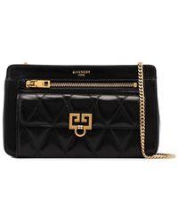 Givenchy - Black Pocket Quilted Leather Shoulder Bag - Lyst