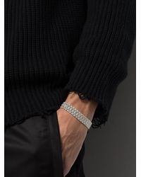 SHAY パヴェダイヤモンド ブレスレット 18kホワイトゴールド - メタリック