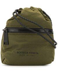 Bottega Veneta Клатч Со Шнурком На Шею - Зеленый