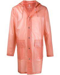 Rains Sheer Hooded Rain Coat - Pink