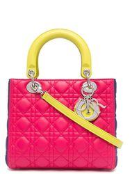 Dior Сумка Lady Dior Cannage Pre-owned С Ручками И Ремнем - Розовый