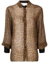 8pm - Cheetah Printed Blouse - Lyst