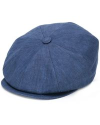 Brunello Cucinelli Textured Wide Brim Hat - Blue