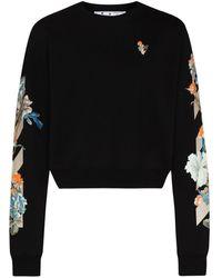 Off-White c/o Virgil Abloh X Browns 50 Floral Paneling Sweatshirt - Black