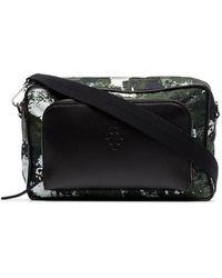 Marcelo Burlon Crossbody Camouflage Messenger Bag - Black