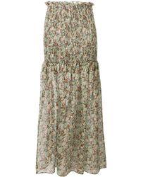Stella McCartney フローラル スカート - マルチカラー