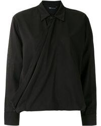UMA | Raquel Davidowicz Eslovênia Draped Shirt - Black