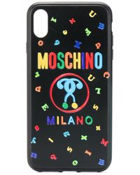 Moschino 'Double Question Mark' iPhone XS MAX-Hülle - Schwarz