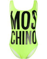 Moschino Слитный Купальник С Логотипом - Желтый
