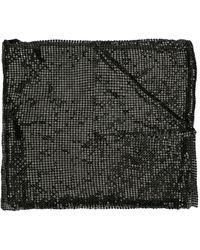 Tom Ford Metal Mesh Scarf - Black