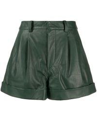 Étoile Isabel Marant Shorts de talle alto con pliegues - Verde
