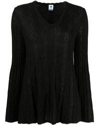 M Missoni ジグザグ セーター - ブラック