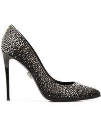Philipp Plein Crystal Beauty Decollete パンプス - ブラック