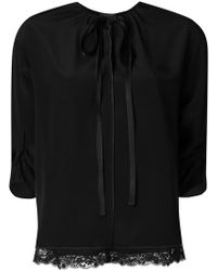 Marc Jacobs - Lace Detail Blouse - Lyst
