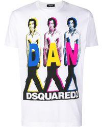 DSquared² - Dan Print T-shirt - Lyst