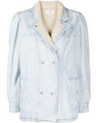Étoile Isabel Marant Джинсовая Куртка С Меховой Подкладкой - Синий