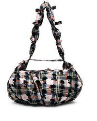 Chopova Lowena Check Print Shoulder Bag - Blue