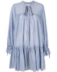 Karen Walker Gestreiftes Minikleid - Blau