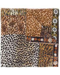 Pierre Louis Mascia Animal Print Scarf - Brown