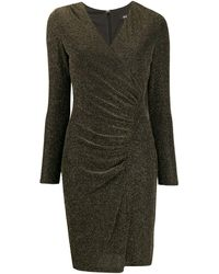 DKNY Ruched Fitted Dress - Black