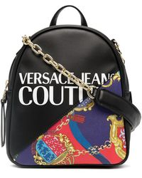 Versace Jeans Couture Baroque-print Mini Backpack - Black
