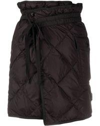 Moncler キルティング ラップスカート - ブラック
