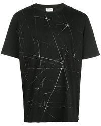 Saint Laurent プリント Tシャツ - ブラック