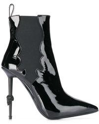 Philipp Plein Skull Heel Boots - Black