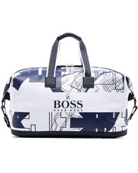 BOSS by HUGO BOSS Tokyo Top-zip Holdall - White