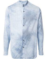 Giorgio Armani - ストライプ バンドカラーシャツ - Lyst