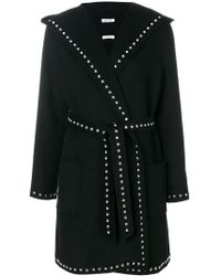 P.A.R.O.S.H. - Belted Stud Coat - Lyst